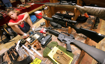 Child at a Raleigh gun show.  Image from morallowground.com.