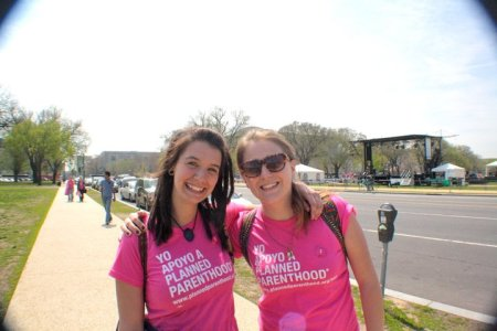 Guilford students attend the Rally for Women's Health in Washington DC in 2011.  Photo courtesy of Grayson Schmidt.